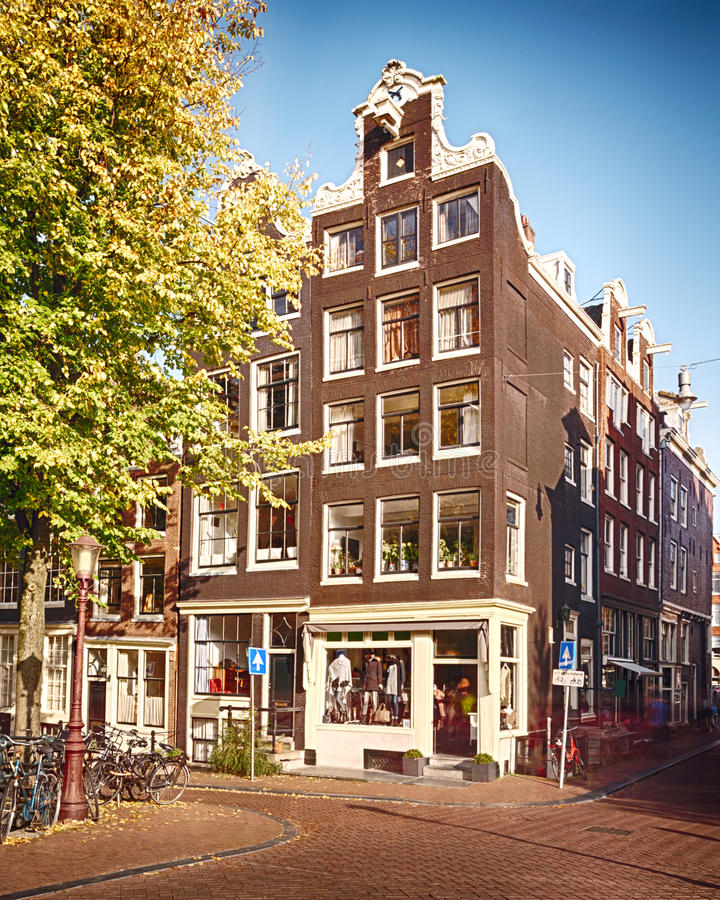 Download House And Street In Amsterdam Stock Image - Image of tree, pavement: 27388629