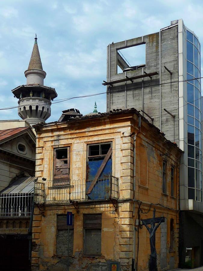 Street in Constanta. Romania. House in a street in Constanta. Romania. Europe stock photos