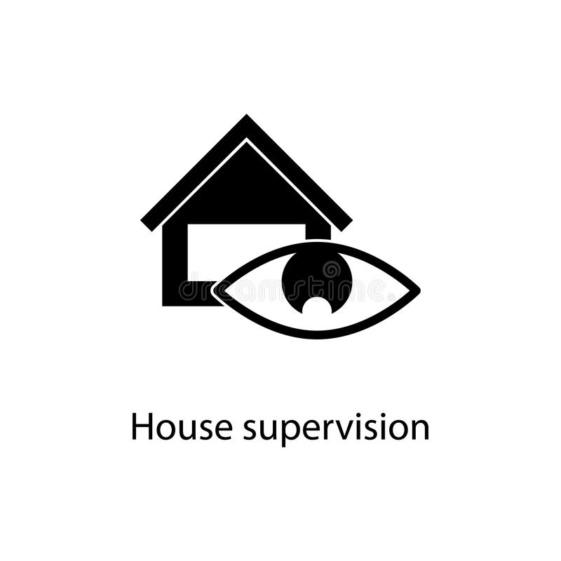 House supervision icon. Element of minimalistic icon for mobile concept and web apps. Signs and symbols collection icon for websit. Es, web design, mobile app on vector illustration