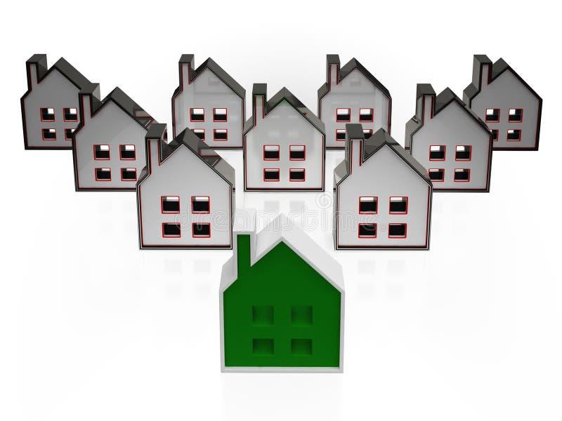 House Symbols Meaning Real Estate For Sale Stock Illustration
