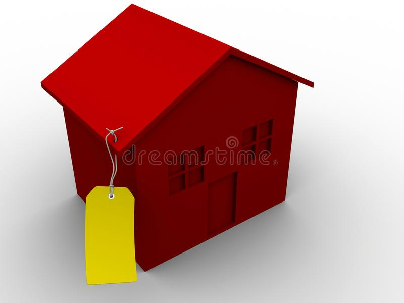 House with tag stock photography