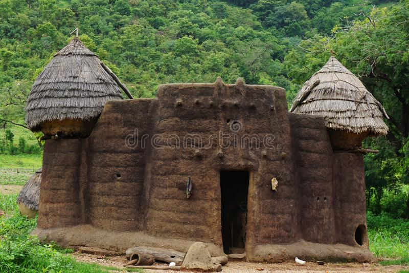 House of the tamberma in Togo, Unesco world heritabe. Traditionel tatienka near kara in togo at site of the unesco world heritage stock photos