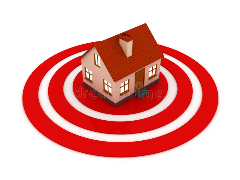 Download House Target Concept Royalty Free Stock Photos - Image: 12717048