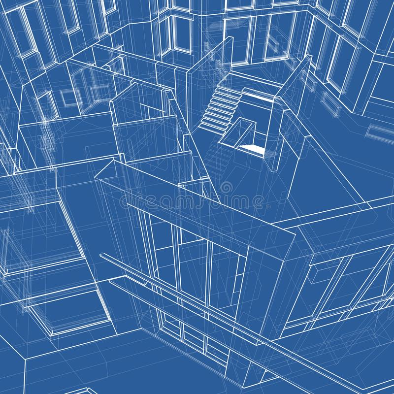 House: technical draw royalty free stock photography