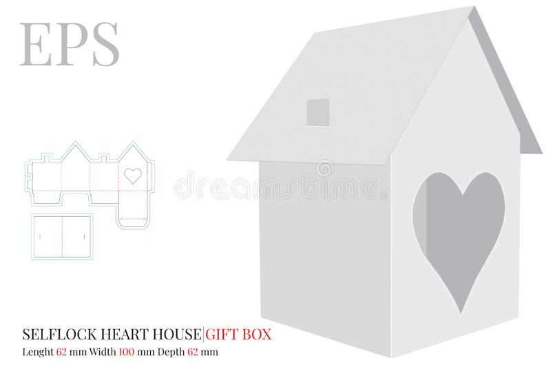 House Template, Vector With Die Cut / Laser Cut Layers  Paper House
