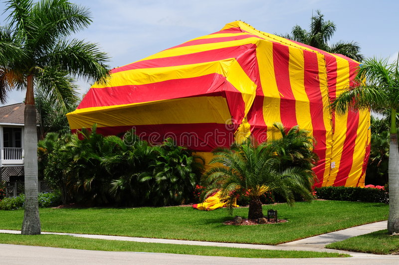 House tented for fumigation stock images