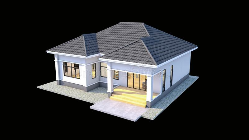 House Thai Style Modern Design With Twin Roof Stock Illustration Illustration Of Construction Style 187125040
