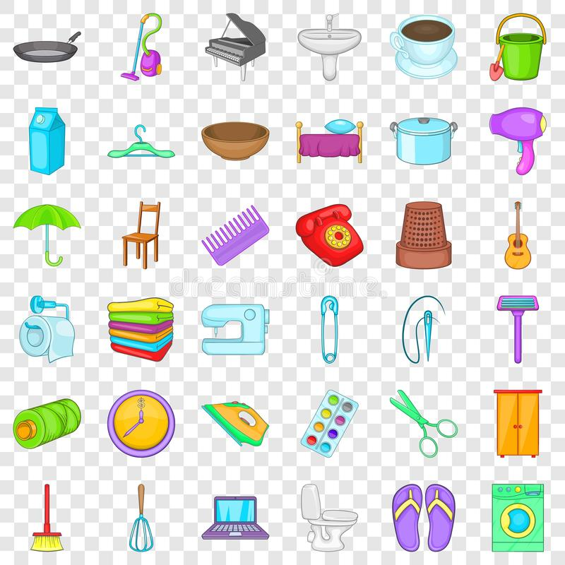 House thing icons set, cartoon style. House thing icons set. Cartoon style of 36 house thing vector icons for web for any design vector illustration
