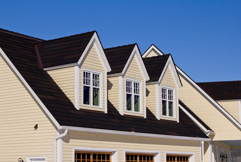 House With Three Dormer Windows Stock Photo Image Of