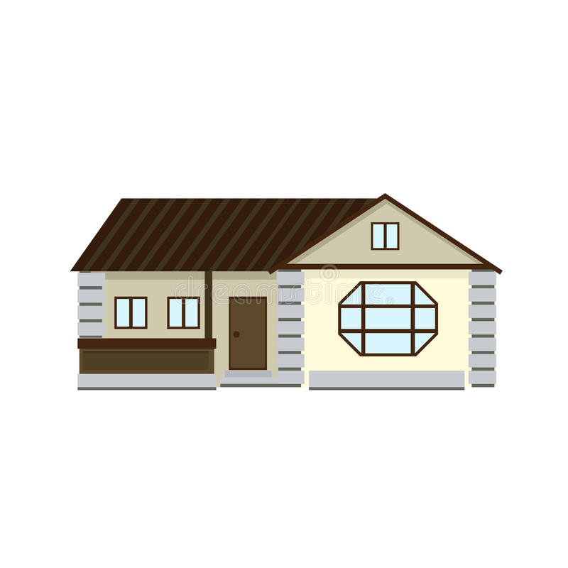 House to create a streetscape. Flat vector color illustration stock images