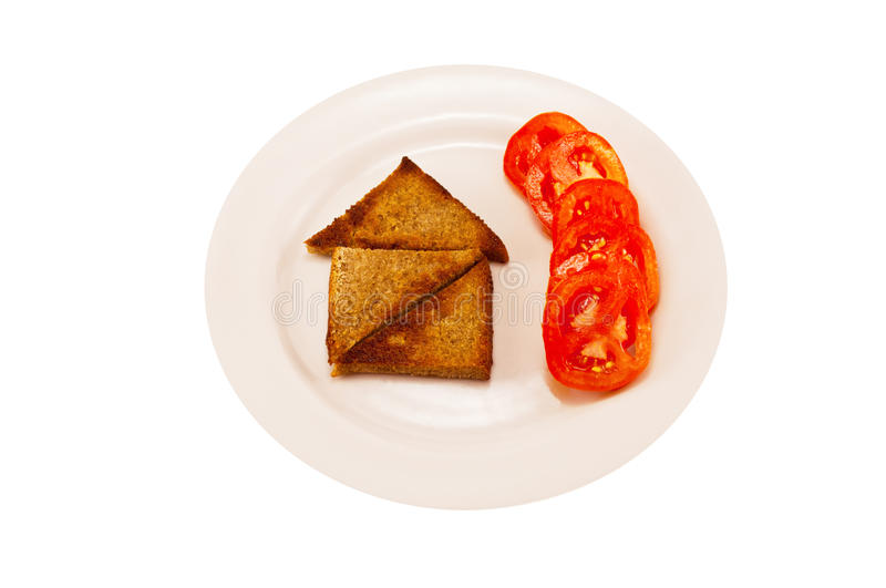 House of toast with hot peppers royalty free stock photography