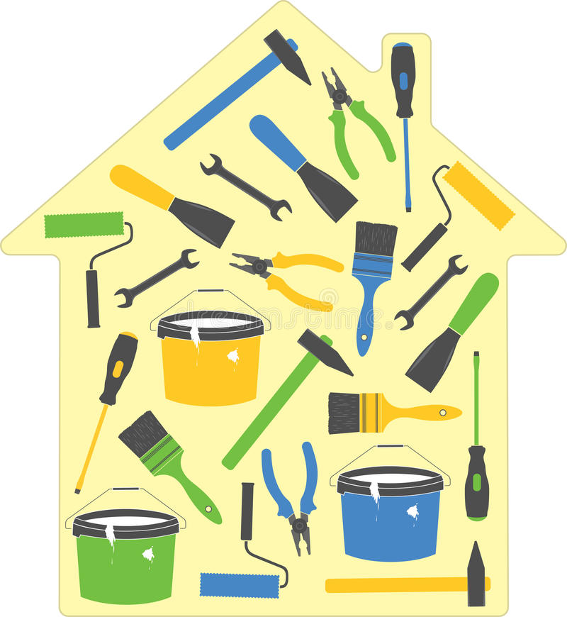 Download House tools stock vector. Image of decorative, icon, overhaul - 22205509