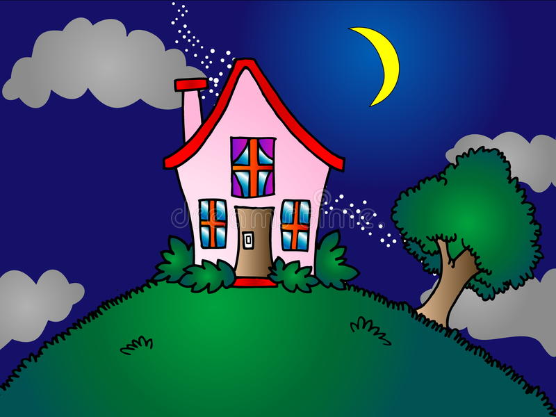 Download House on top of the hill stock illustration. Image of farm - 11057920