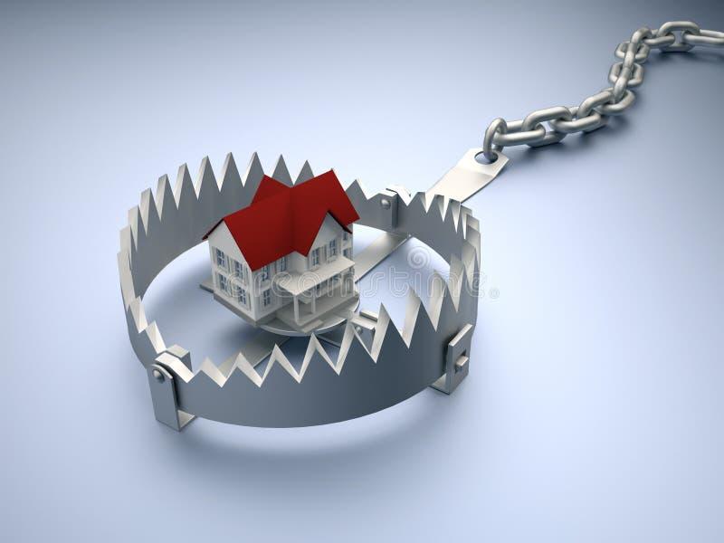 House on trap stock illustration
