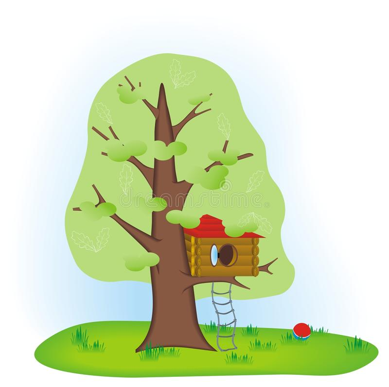 Download House on the tree stock vector. Illustration of child - 18789563
