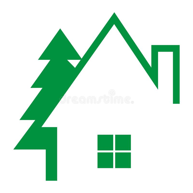 House and tree vector illustration