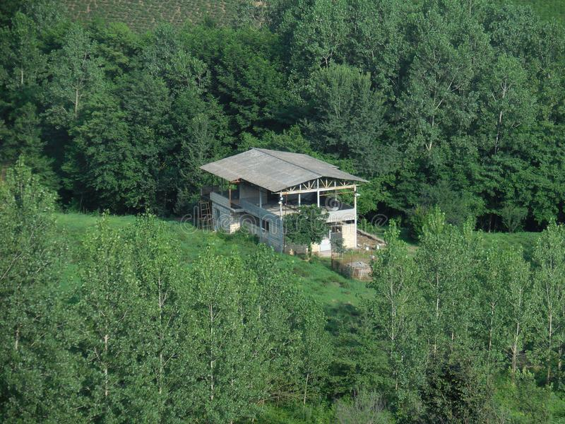 A house between trees, Iran, Gilan stock image