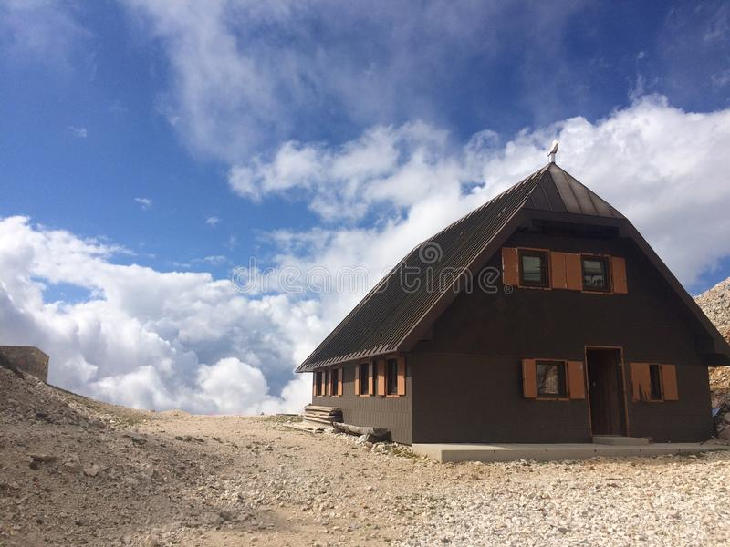 Triglav mountain house royalty free stock images