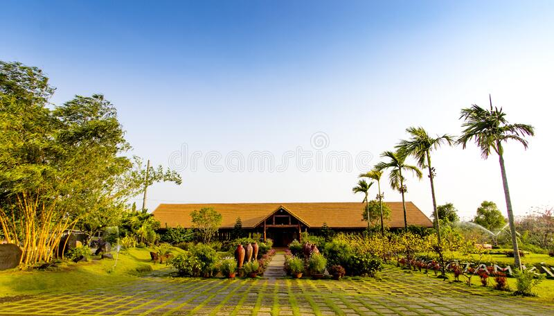 House in tropics royalty free stock image