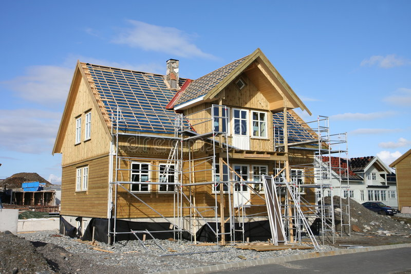 Download House under construction stock photo. Image of collar - 4856488
