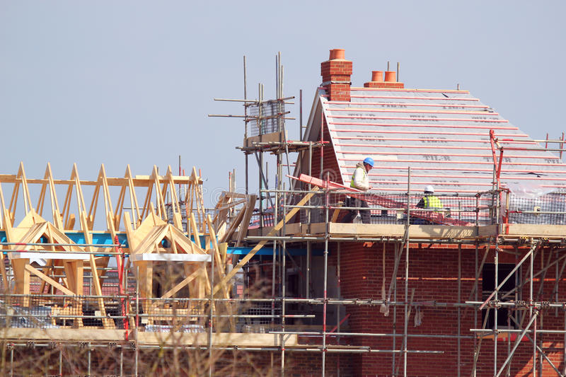 New house construction. stock image