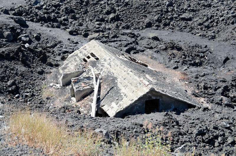 House under lava
