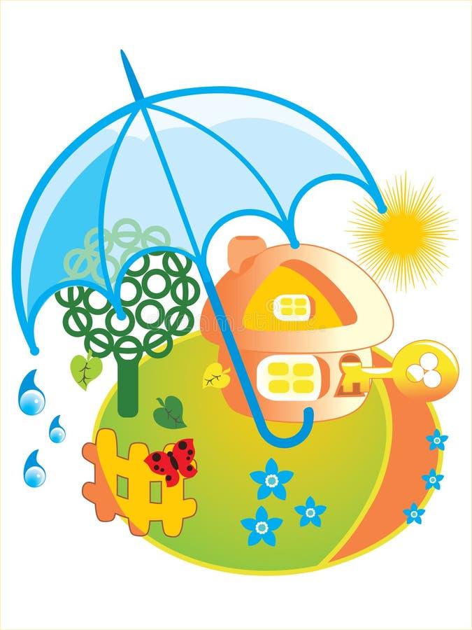 Download House Under Umbrella Royalty Free Stock Image - Image: 7131406
