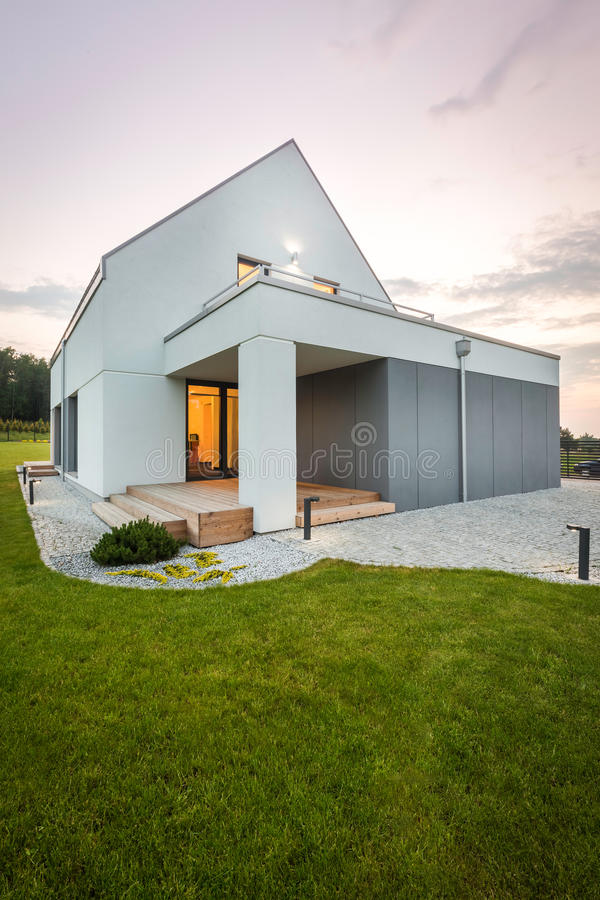 House that unite beauty and functionality stock photo