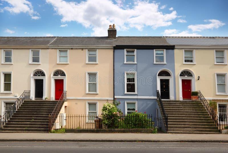 house vägstandsberättelse tre fotografering för bildbyråer
