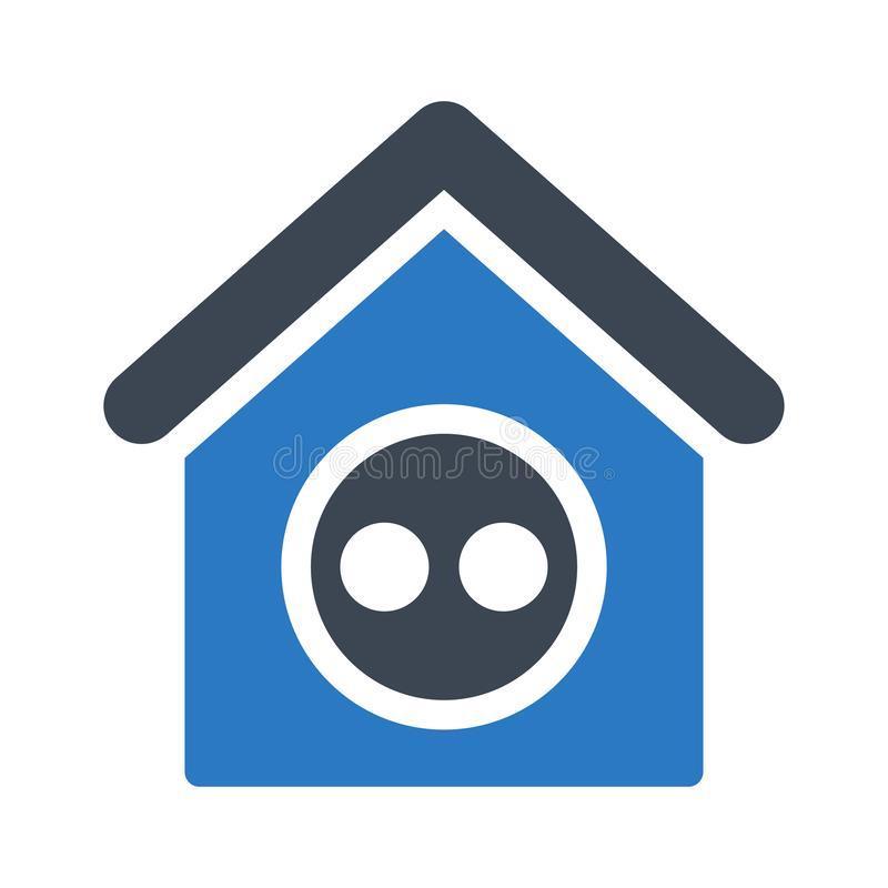 Free House Vector.glyph Color  Icon Royalty Free Stock Photography - 163184697