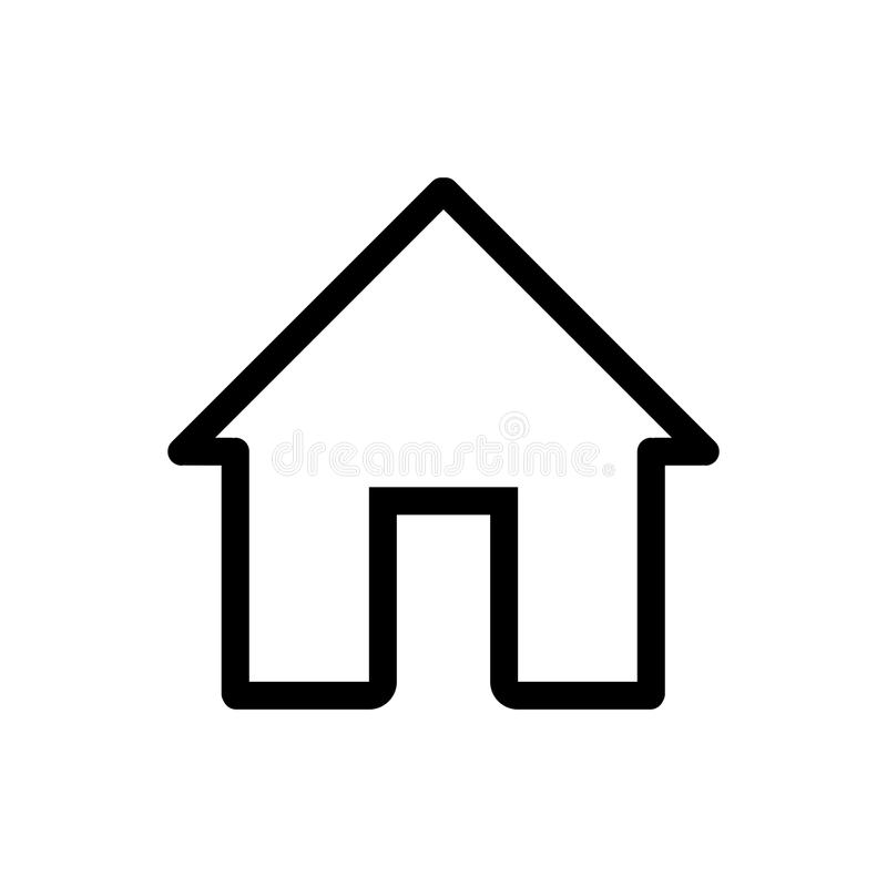 house vector icon black and white home illustration outline linear rh dreamstime com home icon vector home icon vector png
