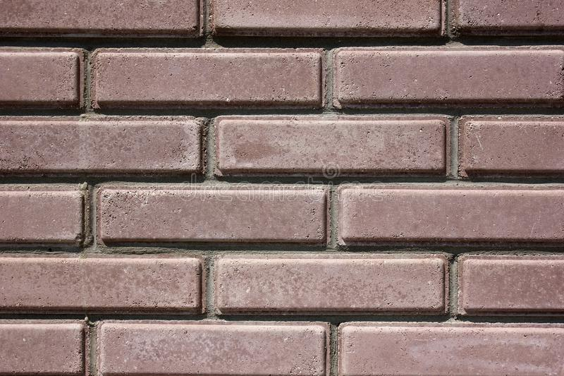 House wall element from a brick. House wall element from a brown brick royalty free stock photos