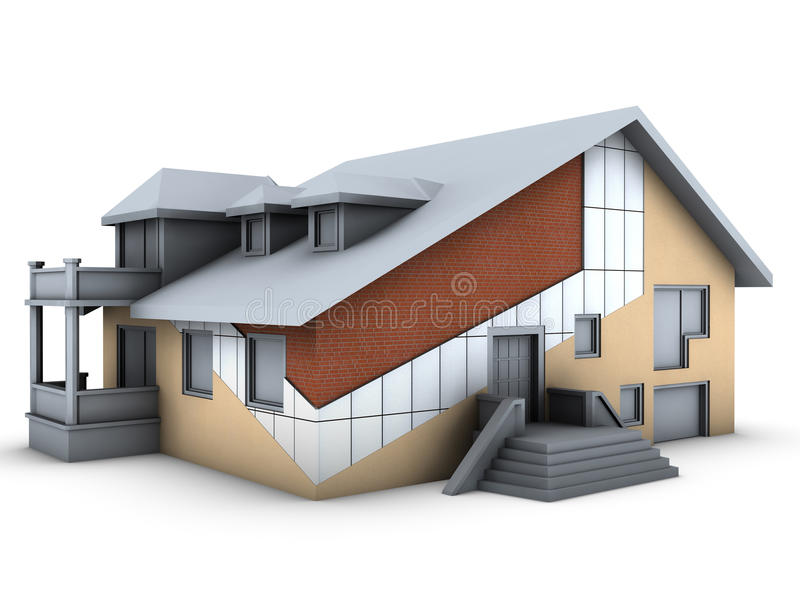 House With Wall Layers Stock Images