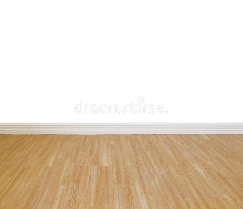 House wall painting. With wooden tile floor royalty free stock photography
