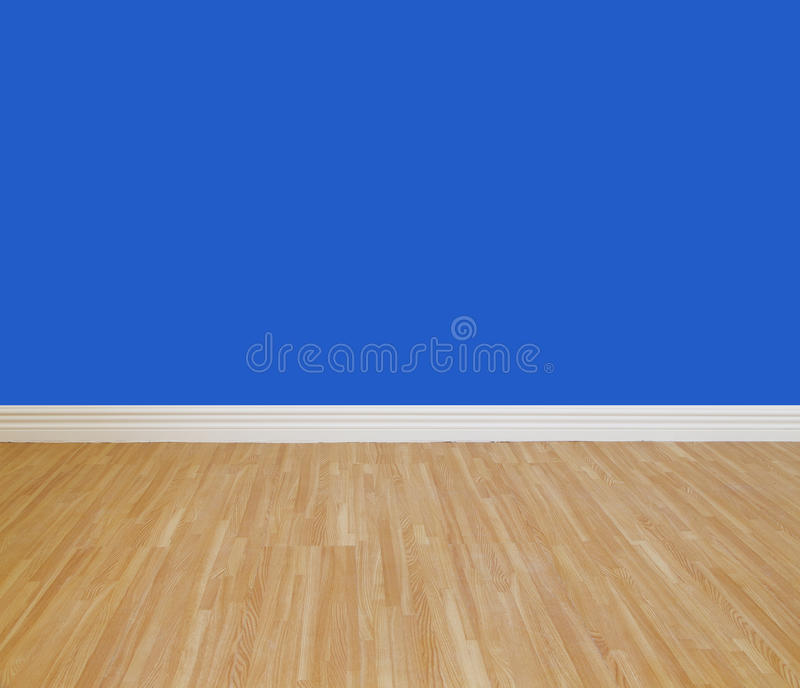 House wall painting. With wooden tile floor stock photography