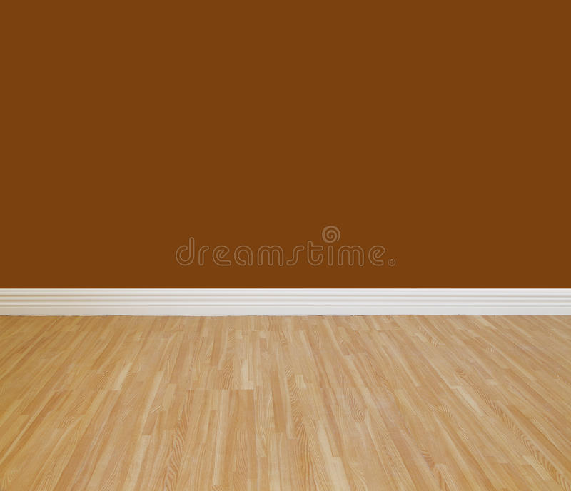 House wall painting. With wooden tile floor royalty free stock photo