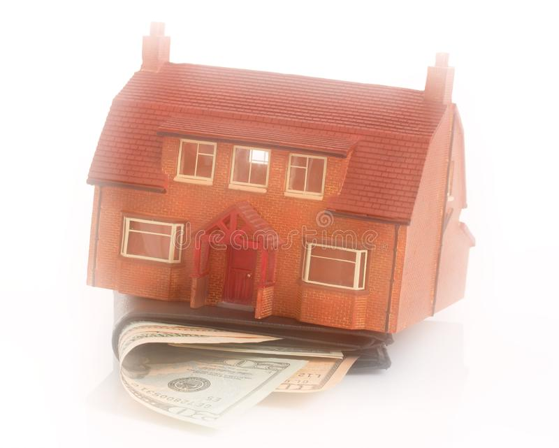 House and wallet stock photos