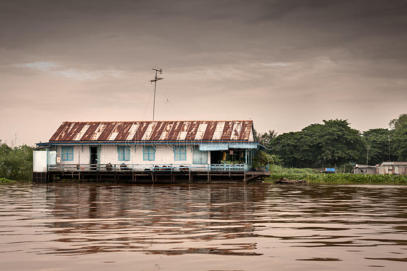 House in the water royalty free stock images
