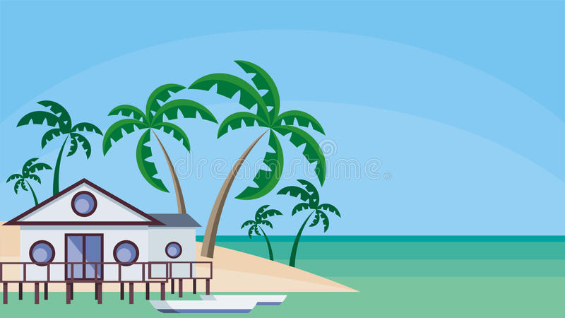 the house at water royalty free illustration