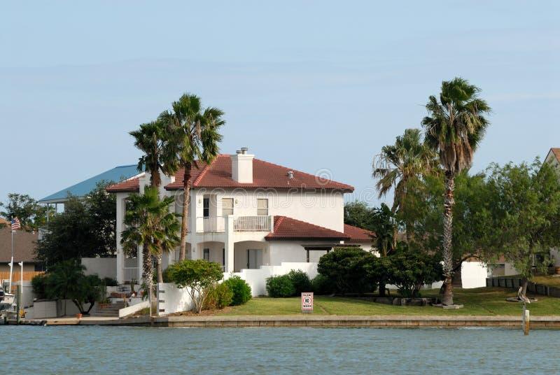 House waterside stock photo