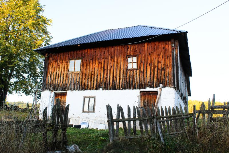 House in western Serbia, more than 100 years old. stock images
