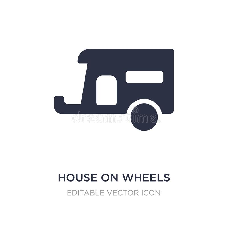 house on wheels icon on white background. Simple element illustration from Tools and utensils concept stock illustration