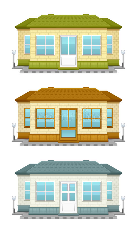 Download House stock vector. Image of front, brickwall, apartment - 31522011