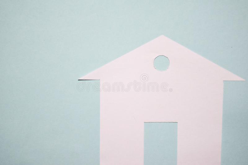 House of white paper showing a concept for home. Top view. royalty free stock images