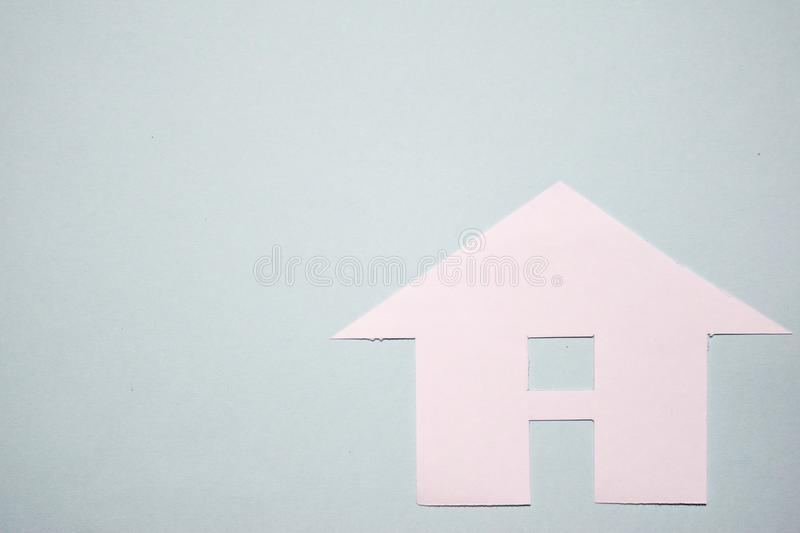 House of white paper showing a concept for home. Top view. stock image