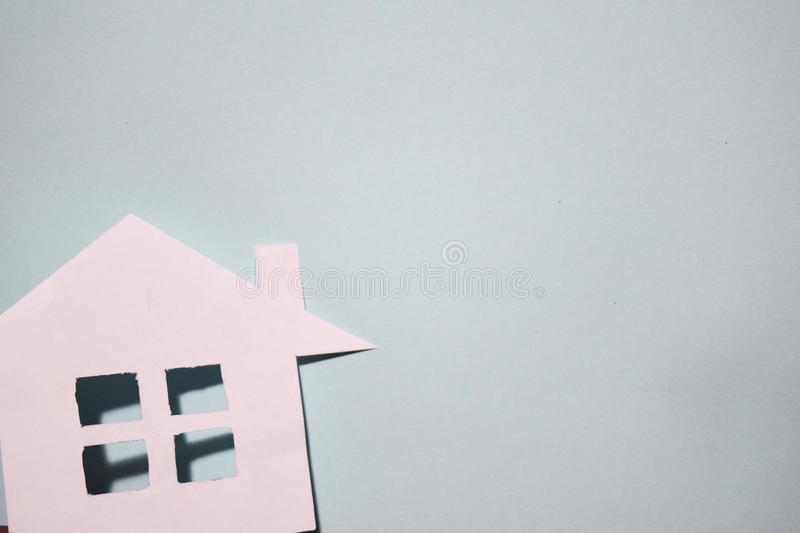 House of white paper showing a concept for home. Top view. royalty free stock photography