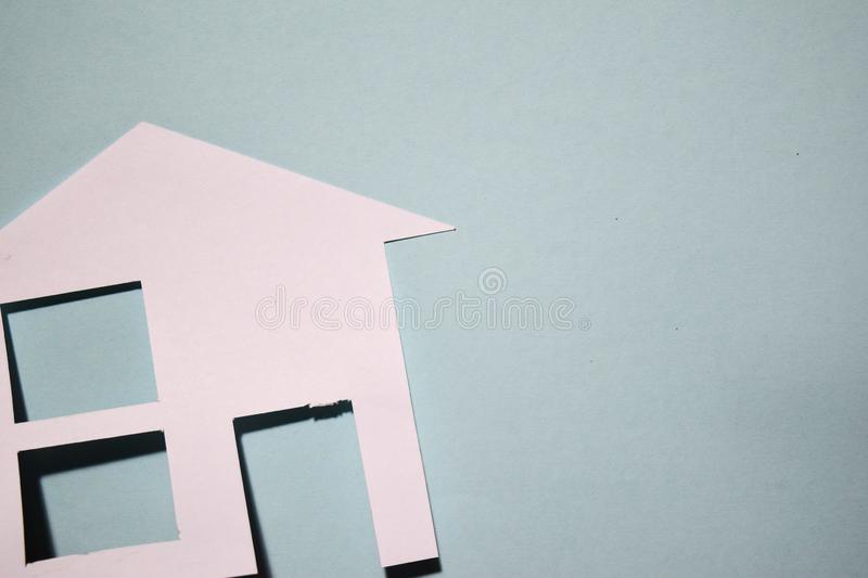 House of white paper showing a concept for home. Top view. stock images