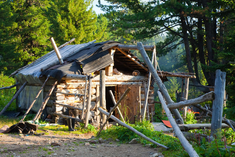 House In Wildness Area Royalty Free Stock Image