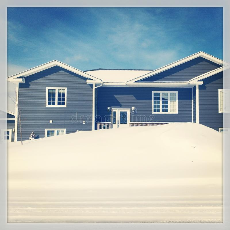 House in Winter stock images