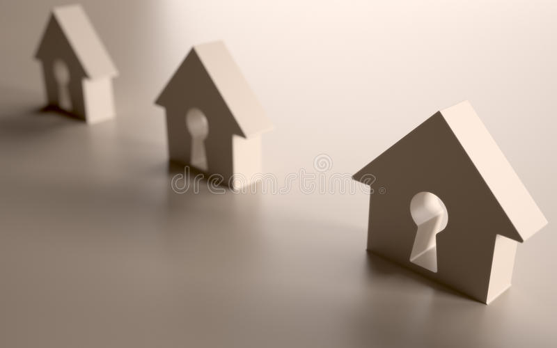 House wired stock illustration